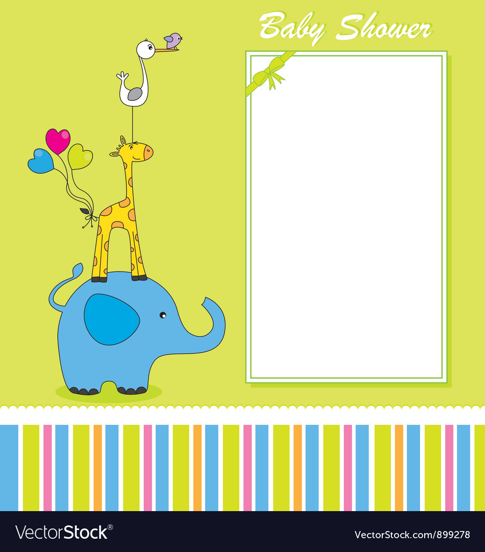 Fun animal card vector image
