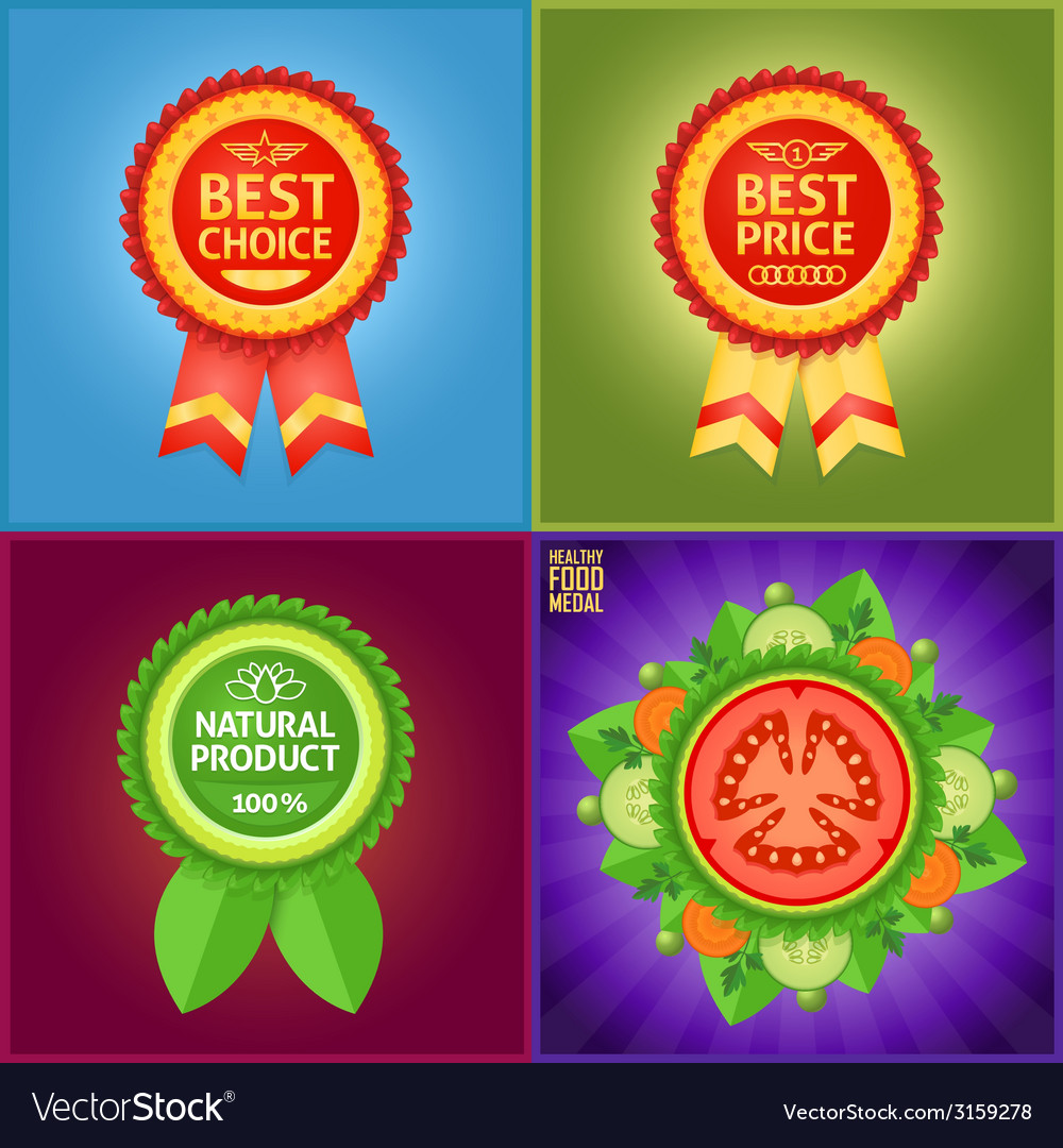 Set of nice labels to mark product features vector image