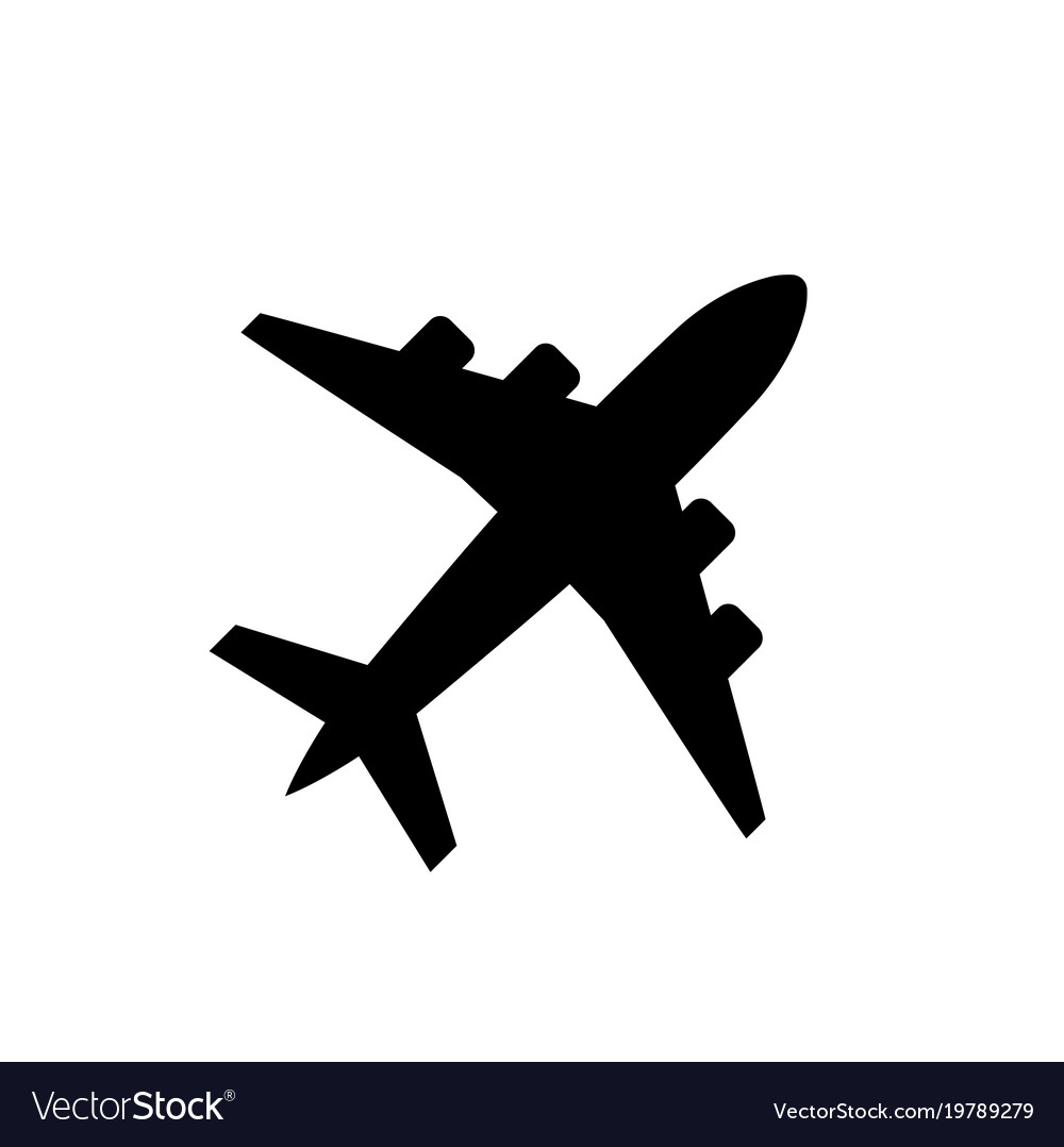 Plane icon airplane symbol in flat style vector image