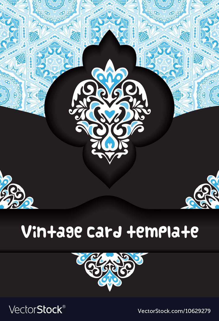 Vintage poster card template design vector image