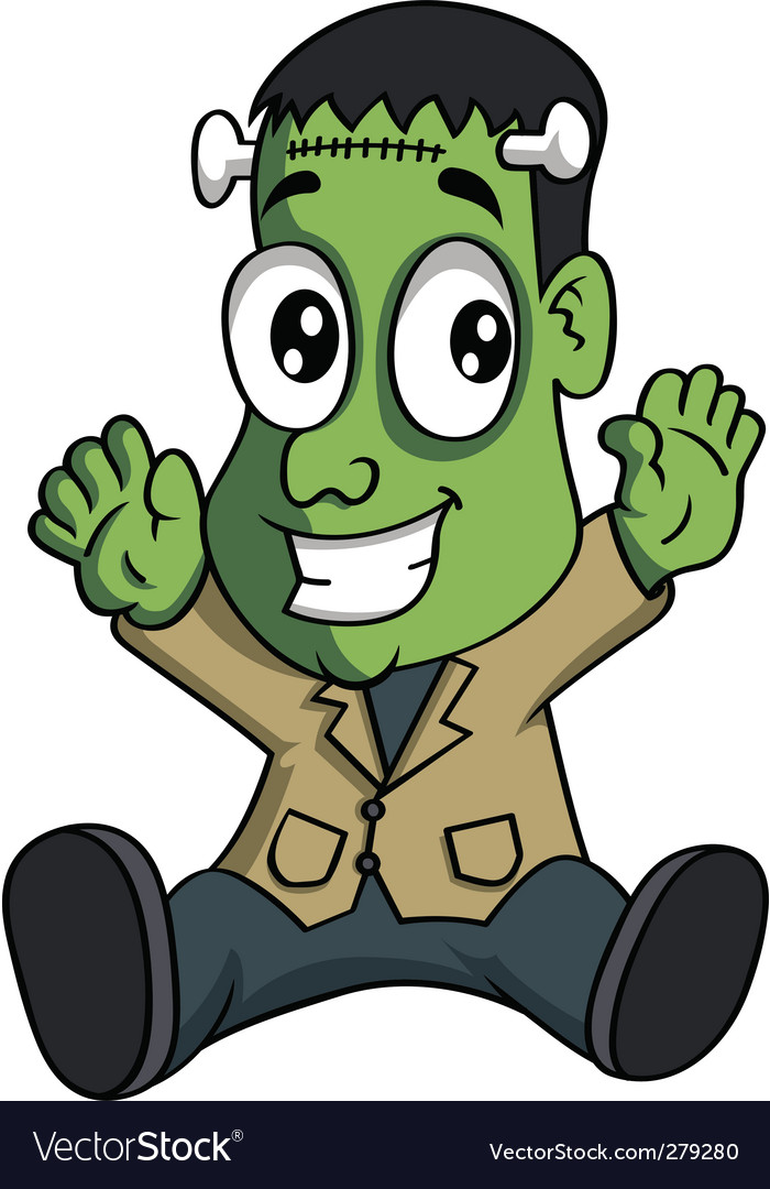 Baby Frankenstein vector image