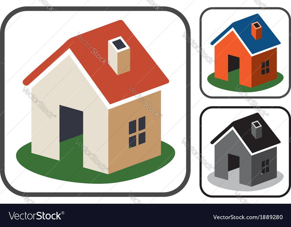 Home symbols vector image