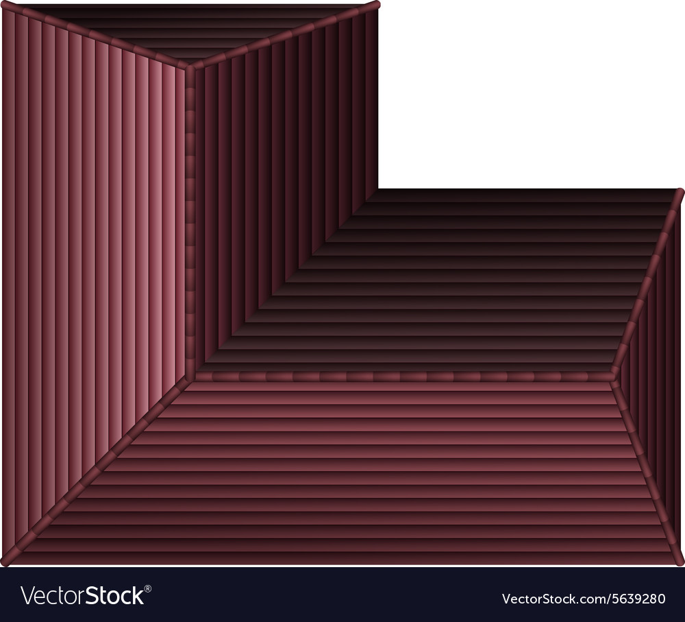 Top view of a house vector image