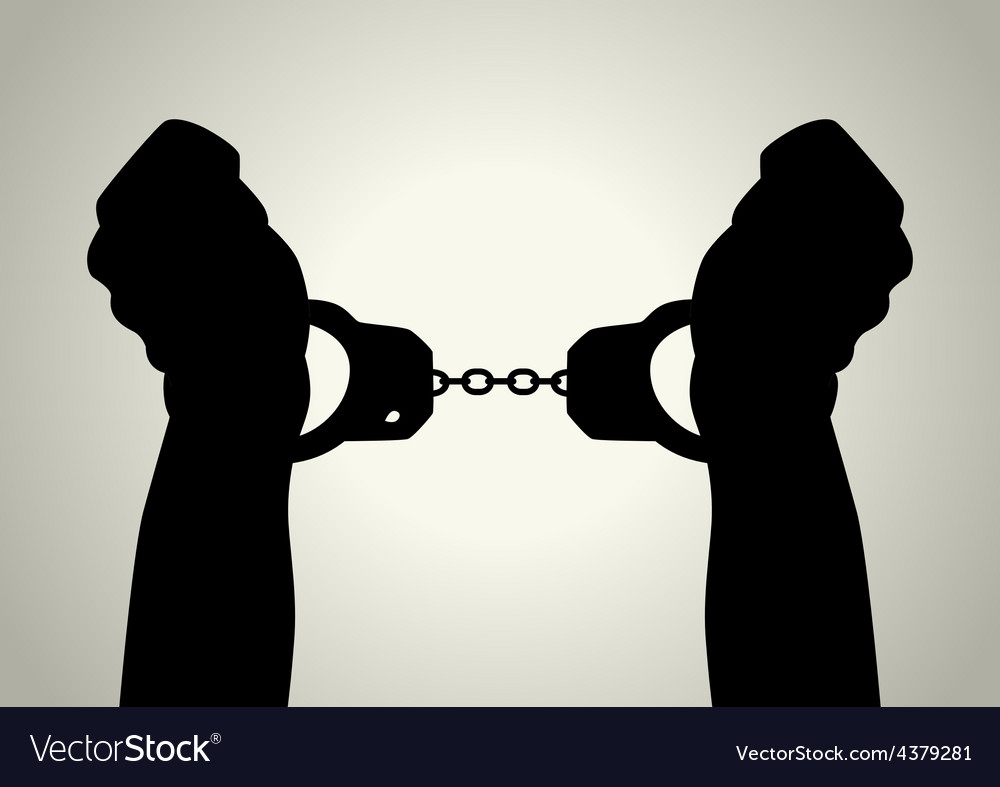 Handcuffed vector image