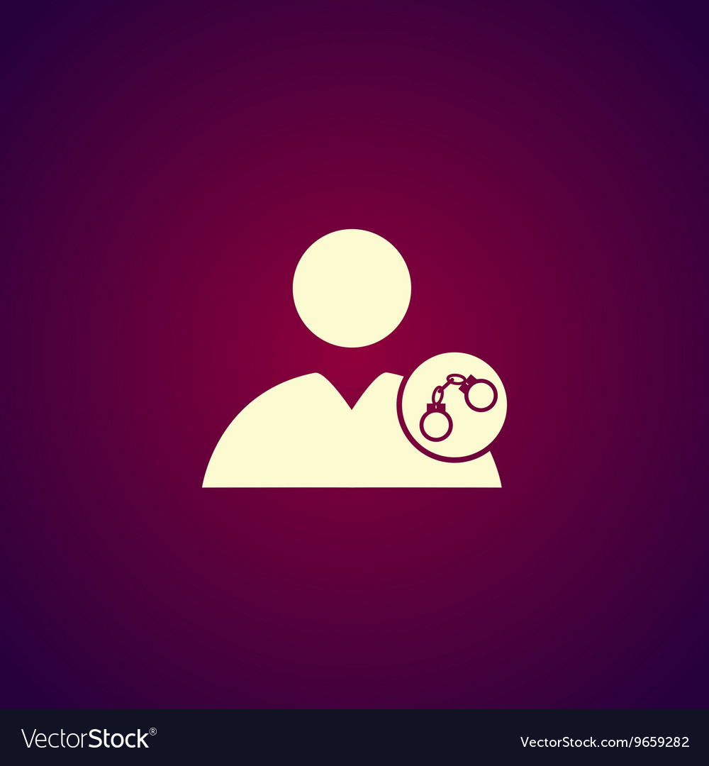 User icon handcuffs icon vector image