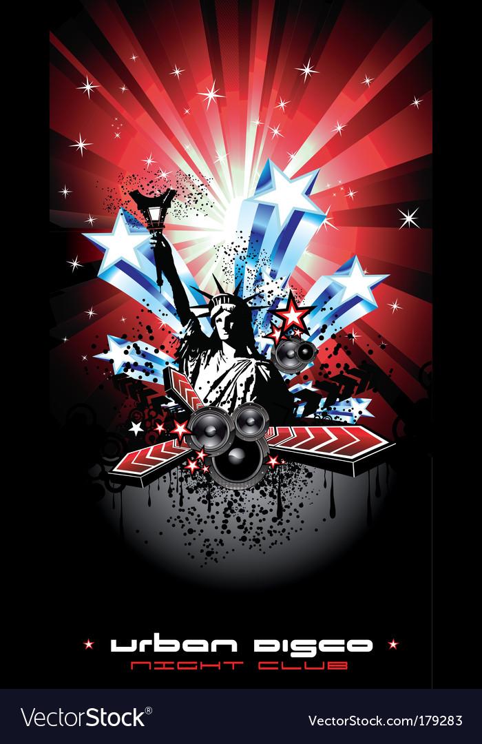 Nyc disco Vector Image