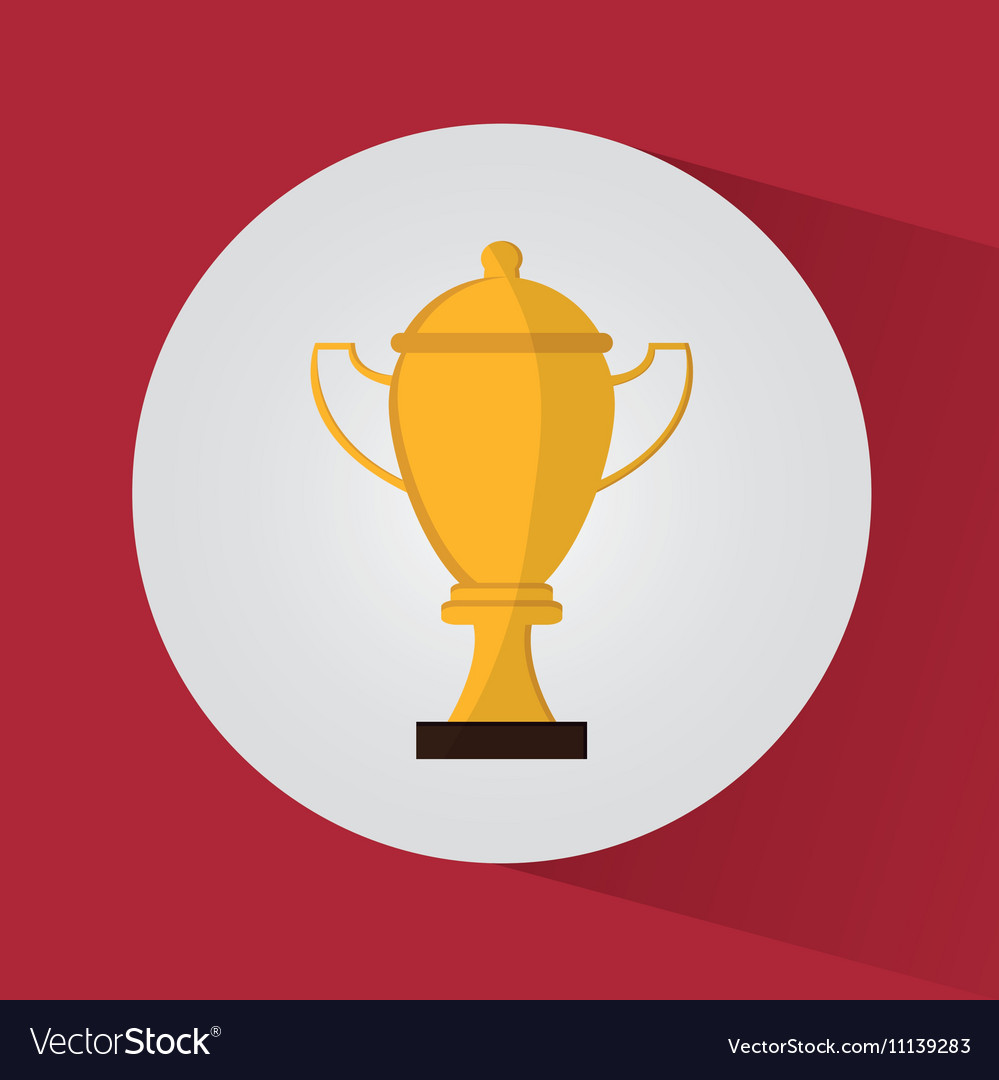 Isolated Gold Trophy Cup Design Vector Image