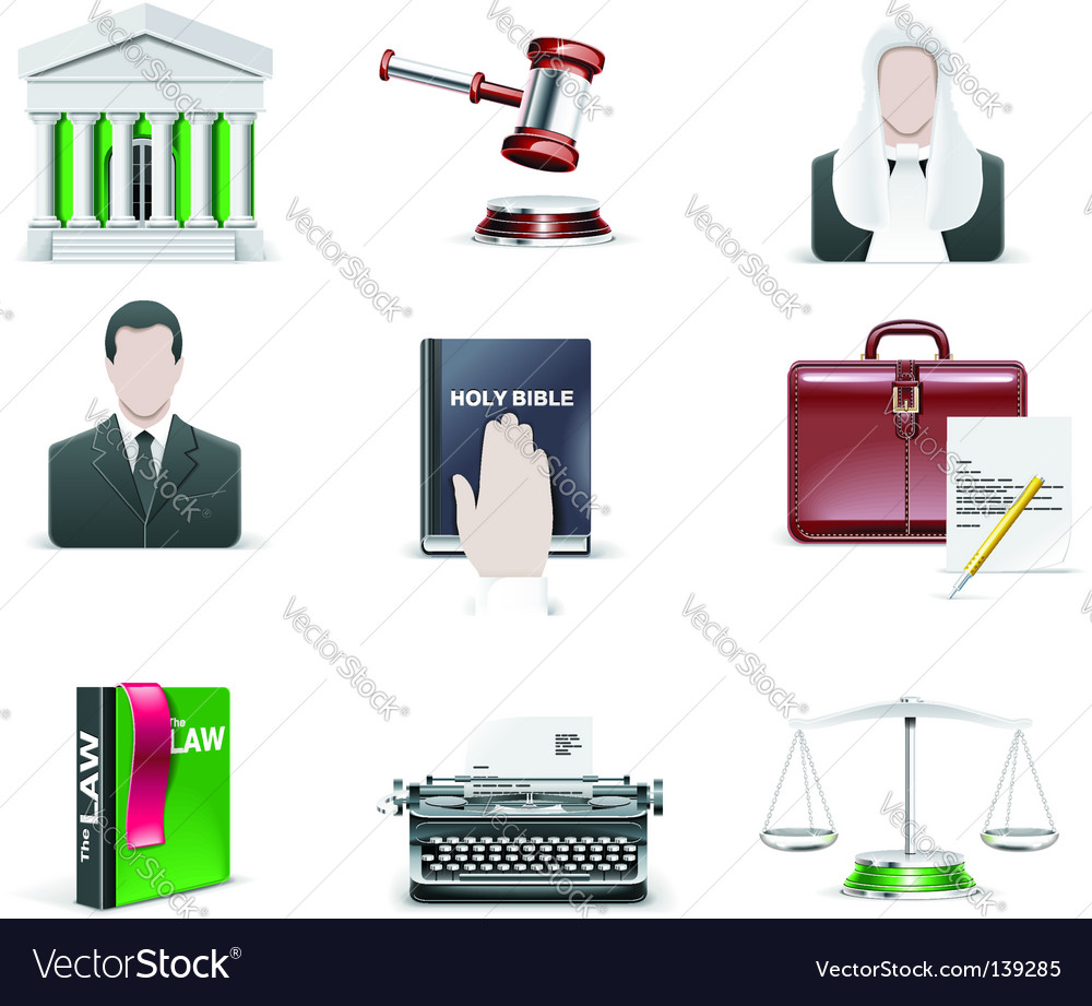 Law and order icons  Vector Image