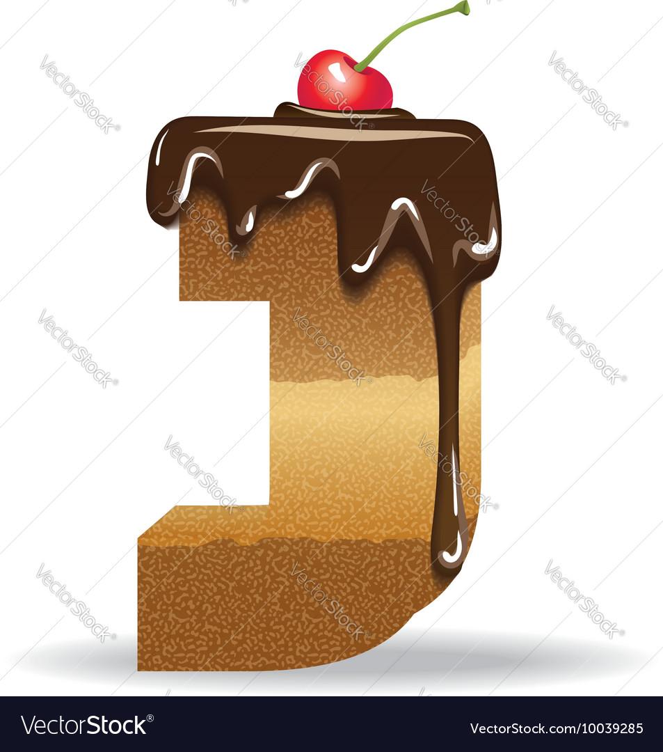 Cake letter j birthday font royalty free vector image cake letter j birthday font vector image biocorpaavc