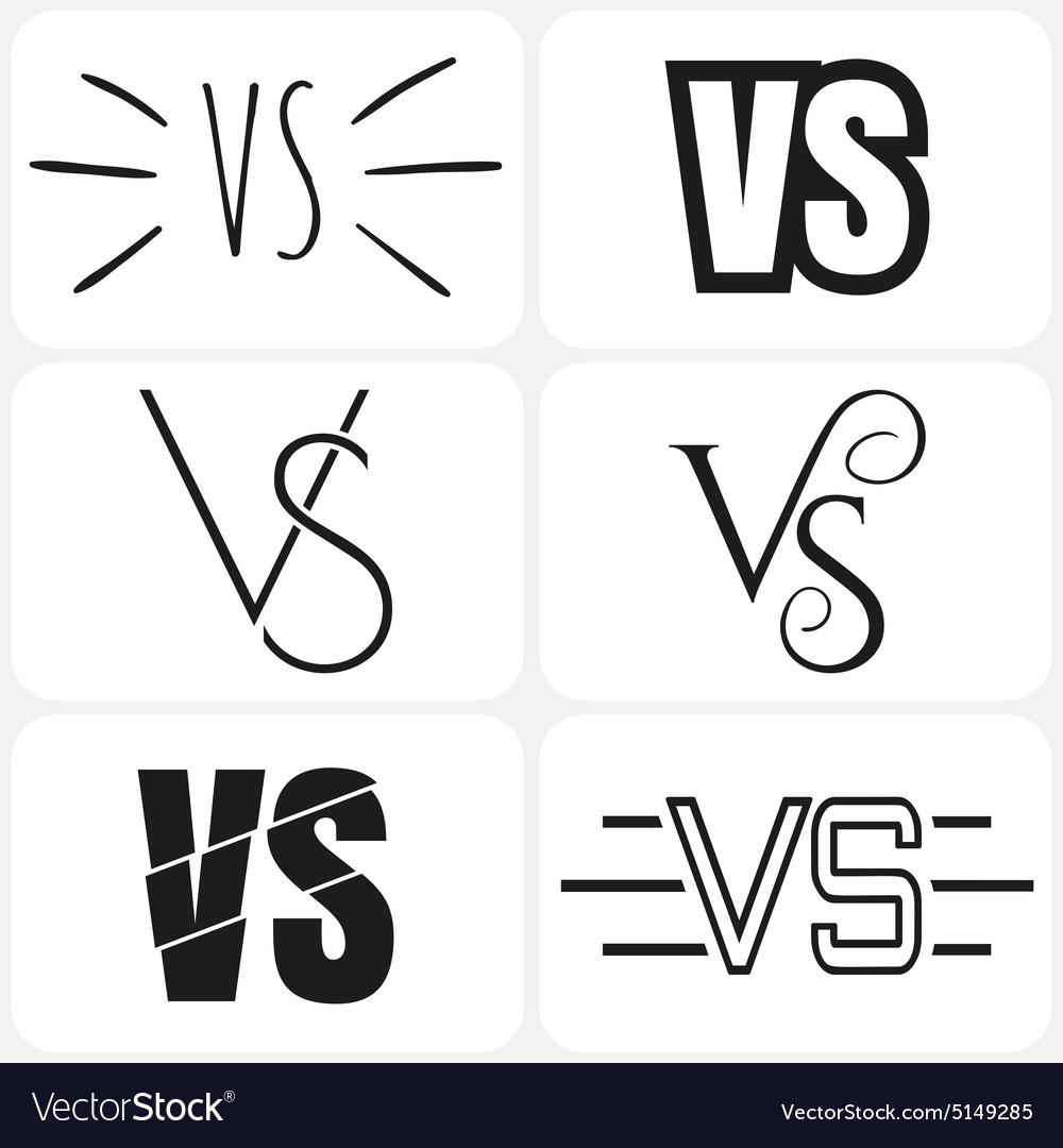 Versus letters logo black v and s symbols vector image versus letters logo black v and s symbols vector image biocorpaavc