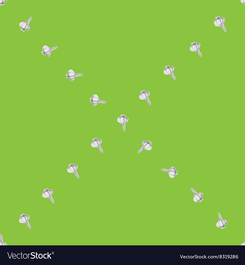 Garlic x sparse pattern vector image