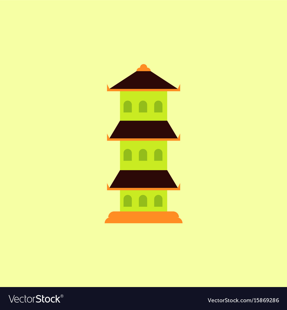 traditional korean house isometric icon