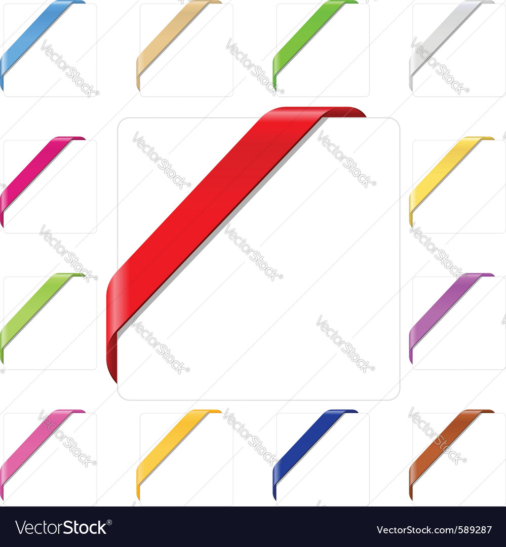 Corner ribbons Vector Image