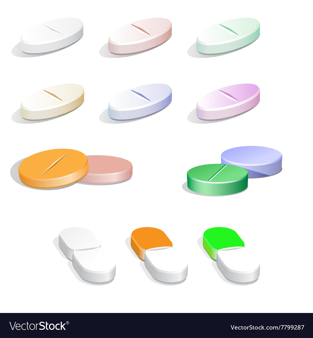 Colorfull pills vector image