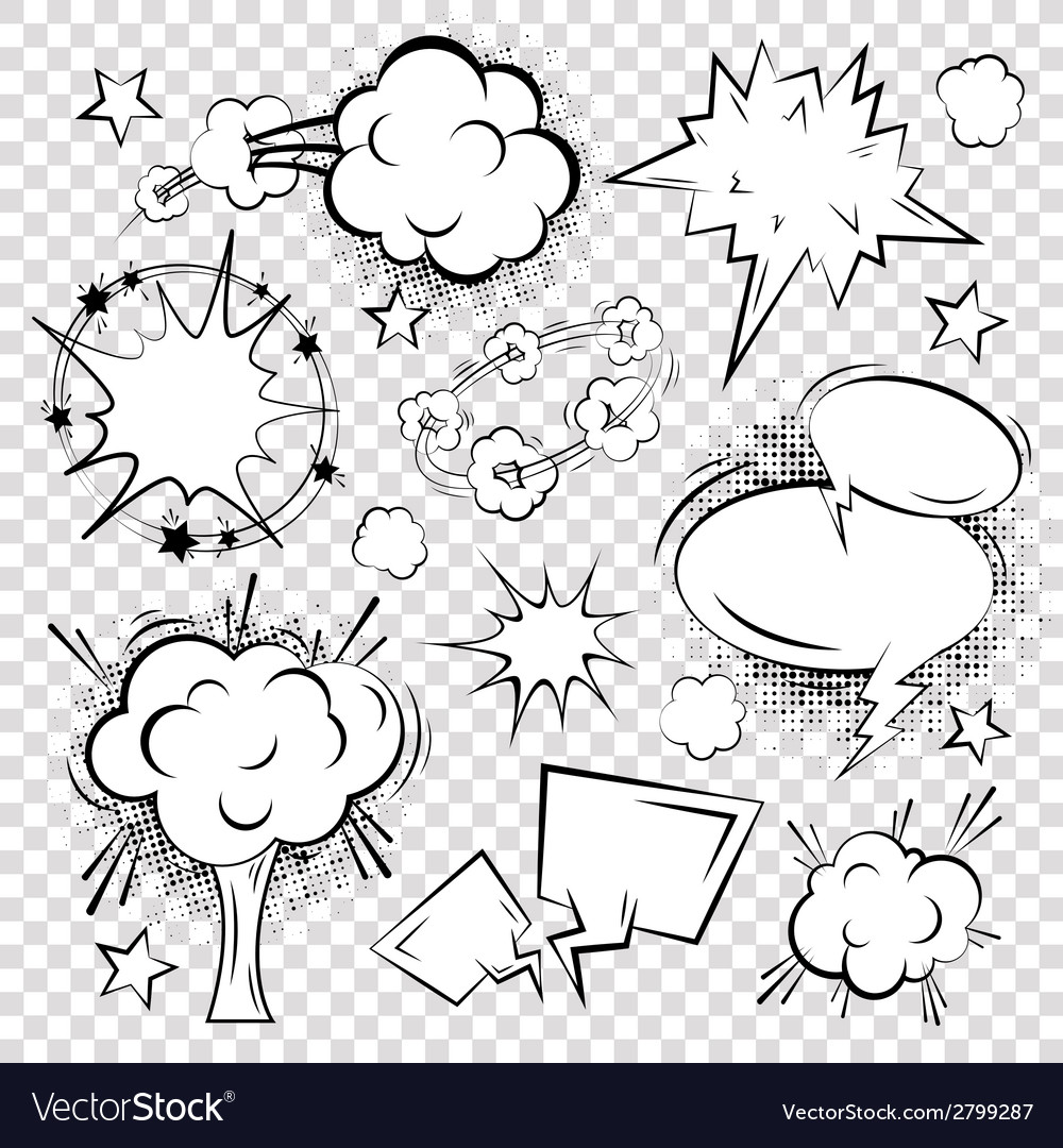 Comic text bubble blank vector image