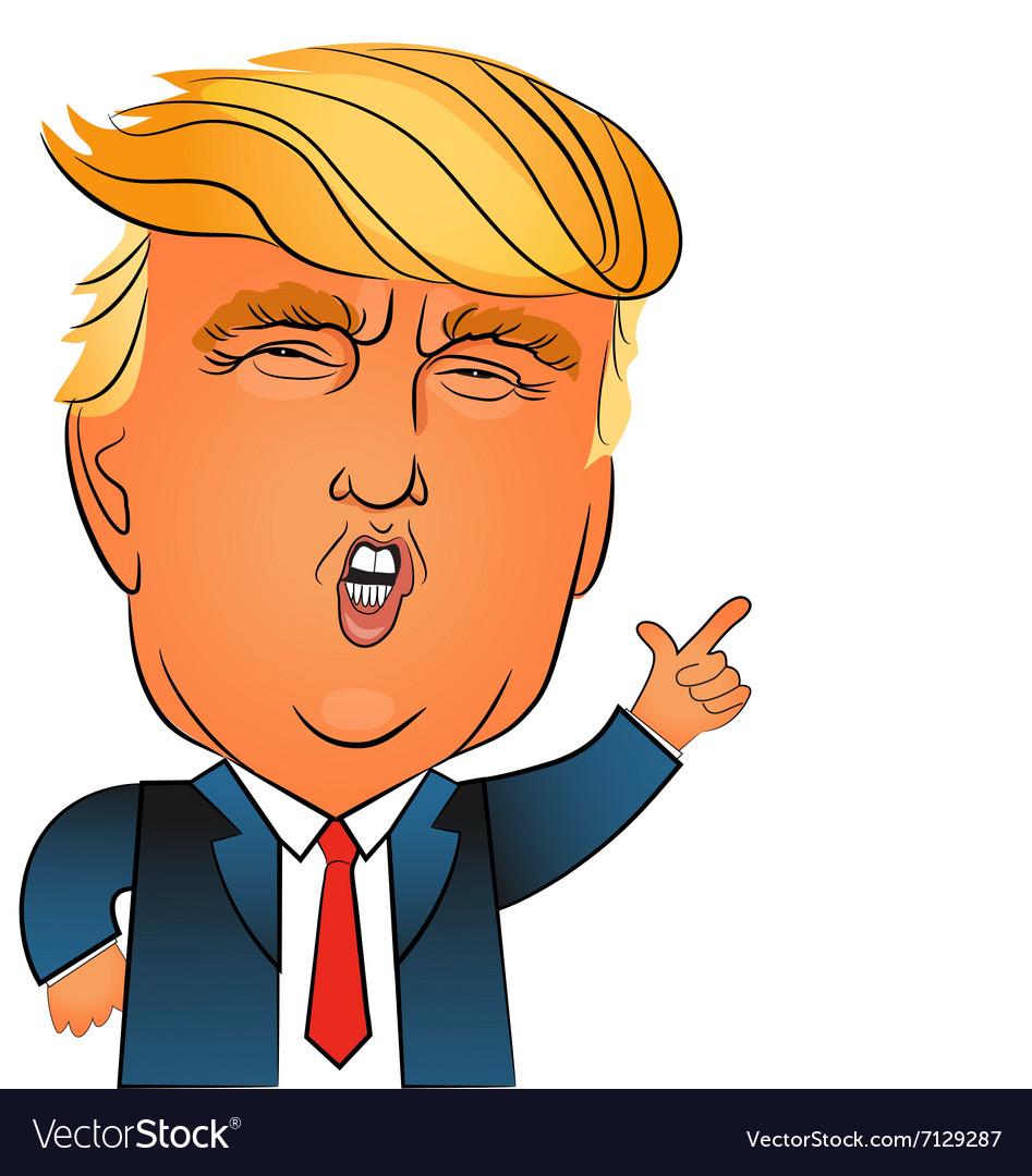 Donald trump character portrait vector image