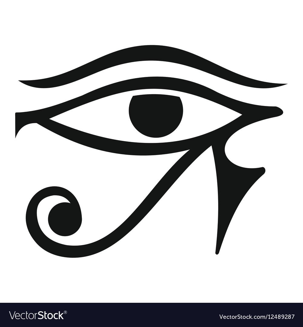 Eye of horus egypt deity icon simple style vector image biocorpaavc Images