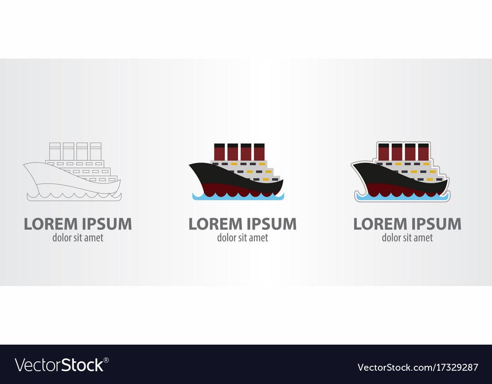 Logo steamboat vector image