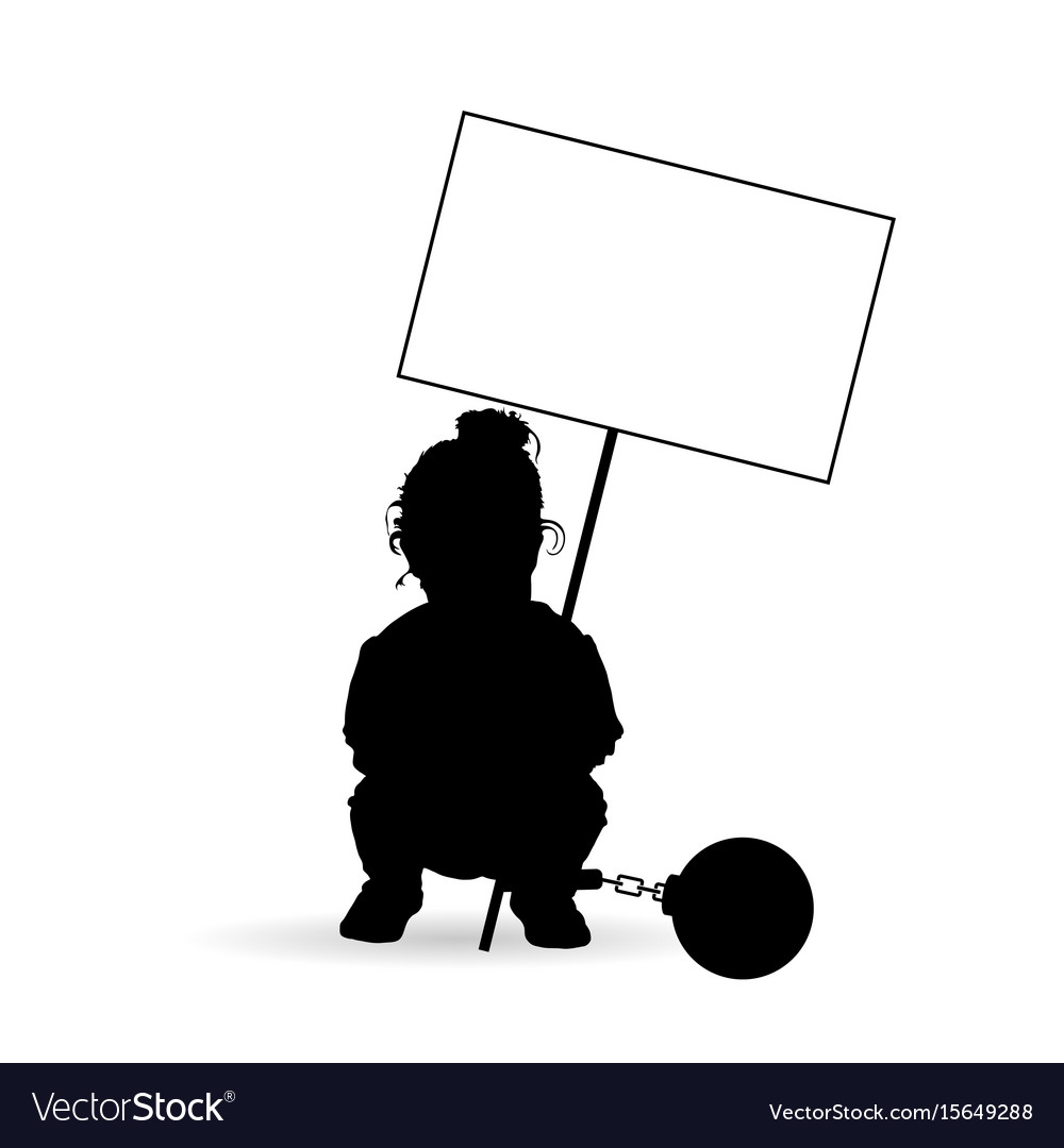 Child silhouette with transparent and prision ball vector image