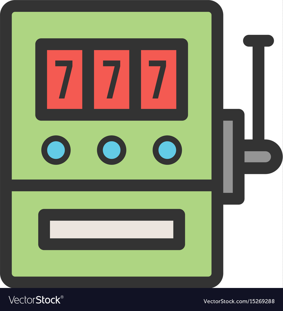 Slot machine with sevens vector image