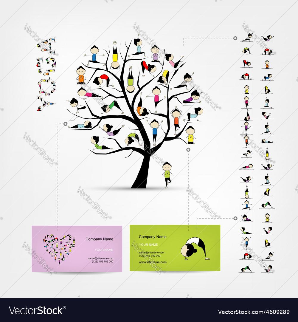Business cards design yoga tree royalty free vector image business cards design yoga tree vector image magicingreecefo Choice Image