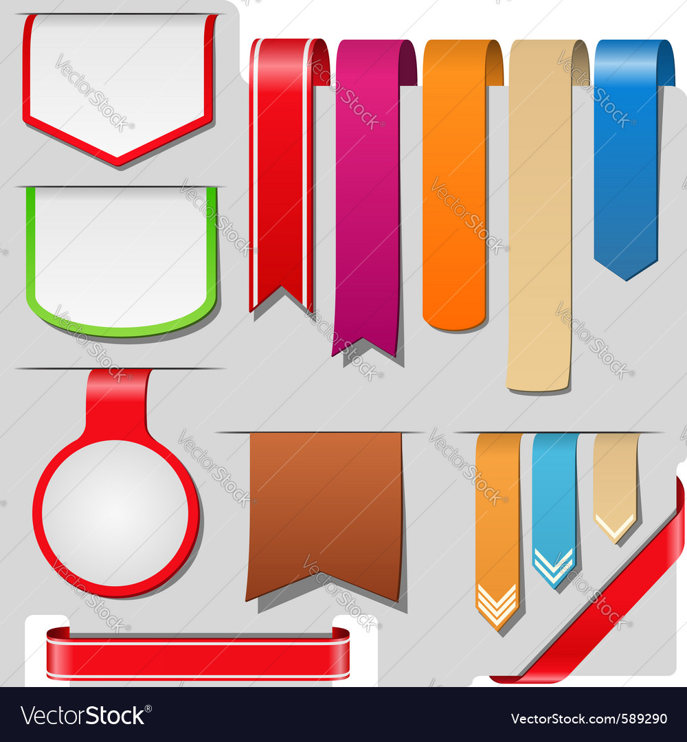 Arrows ribbons banners vector image