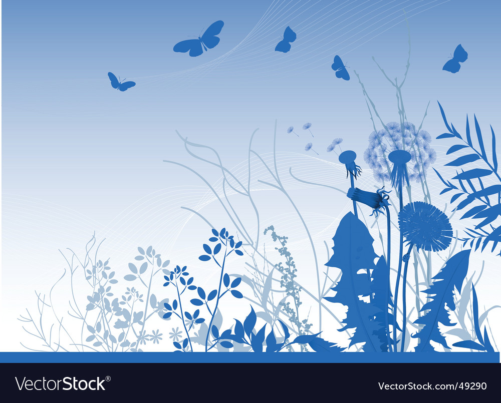 Spring meadows background vector image