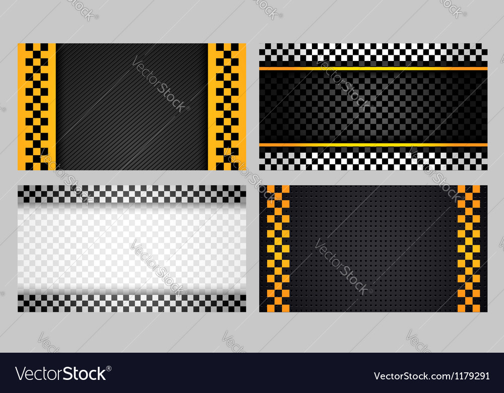 Business cards taxi set new vector image