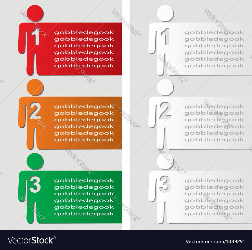 Progress steps background vector image