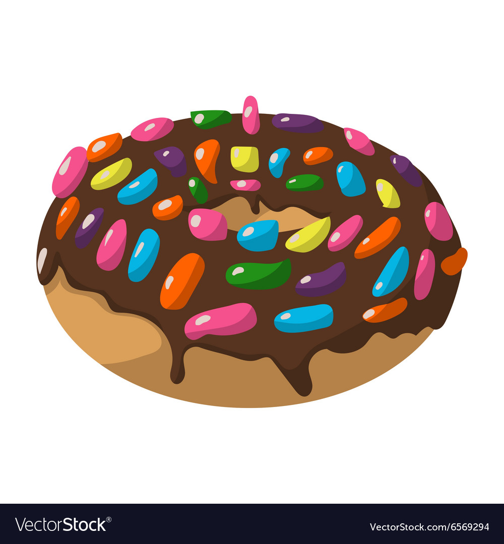 Cartoon doughnut sign vector image