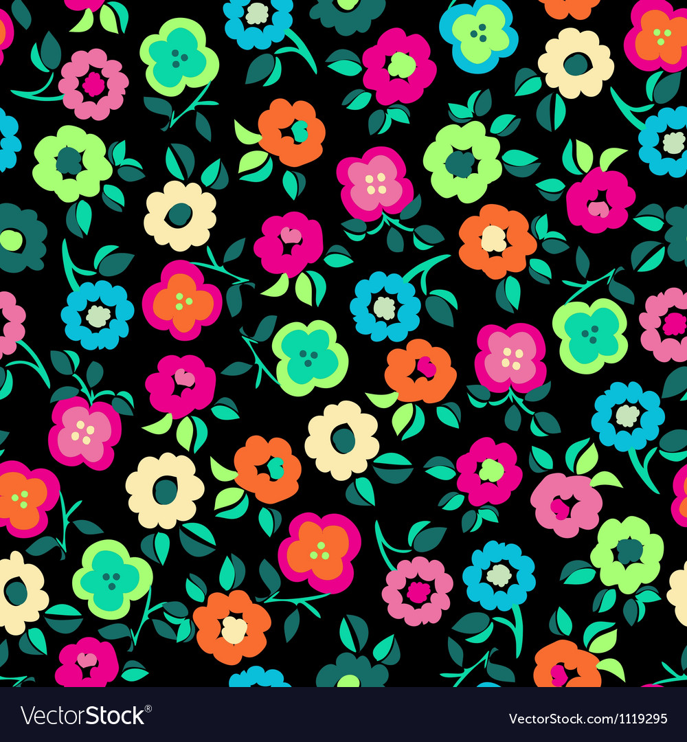 Color Ditsy seamless vector image