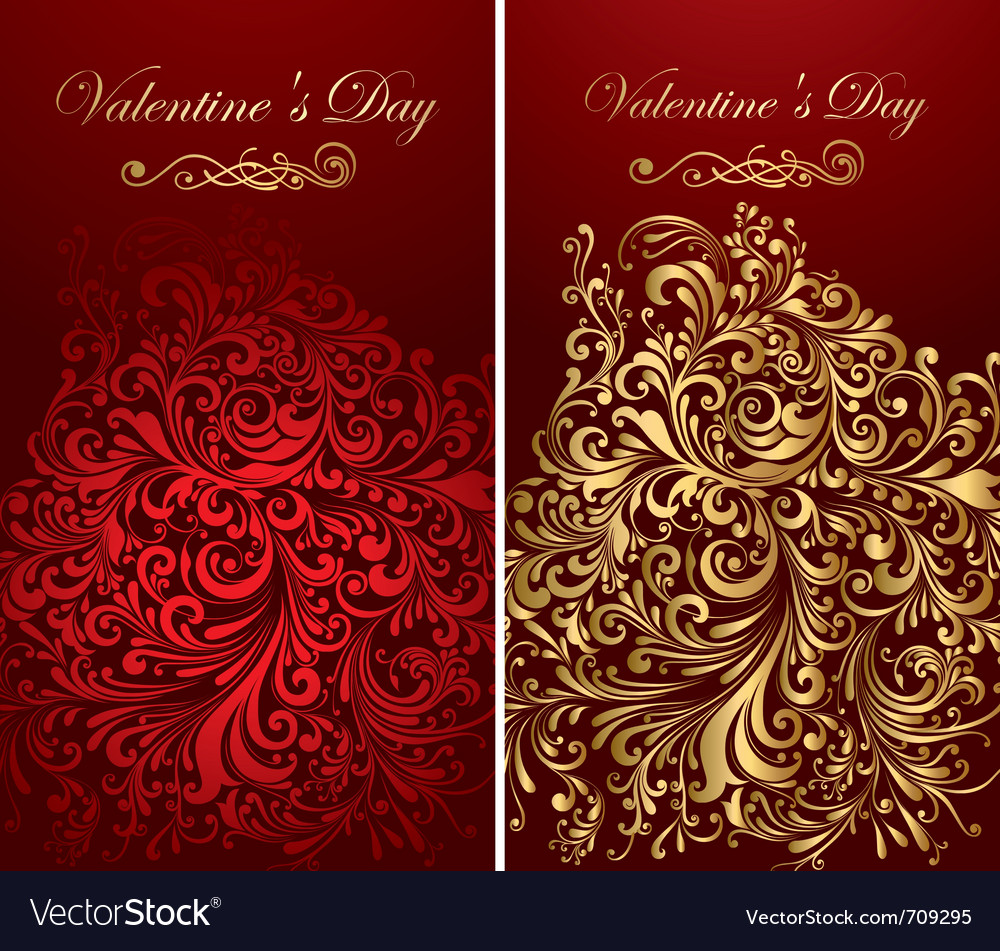 Holiday banners with gold patterns vector image