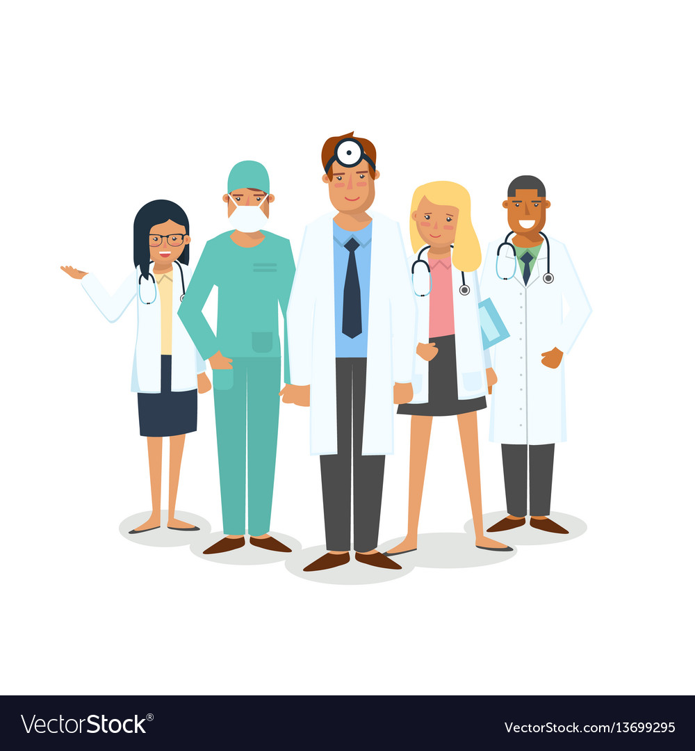 Set of medical workers vector image