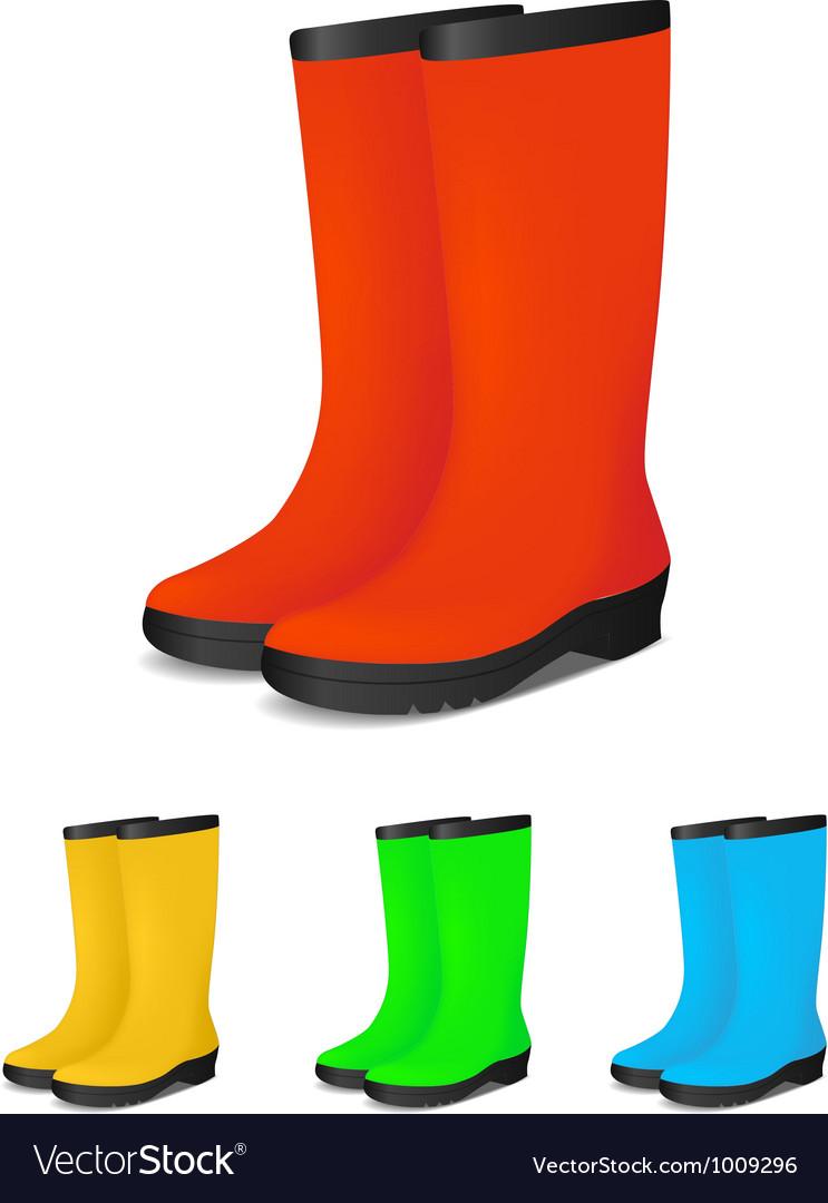 Gumboots colour vector image