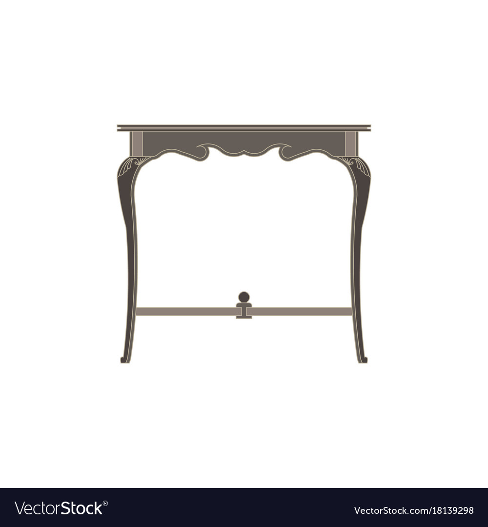 Chair flat icon isolated furniture interior vector image