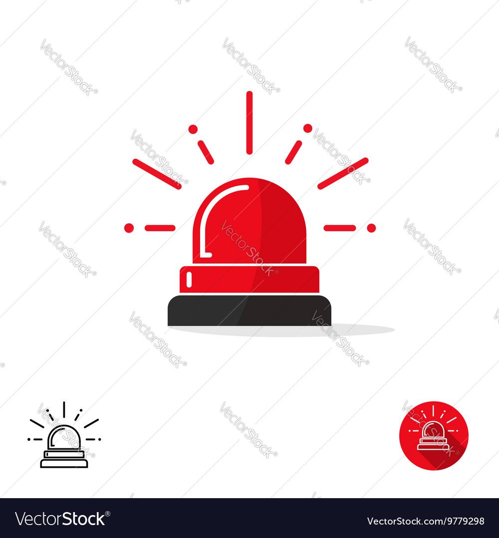 emergency icon ambulance siren light police car vector image car vector interior car vector icon set
