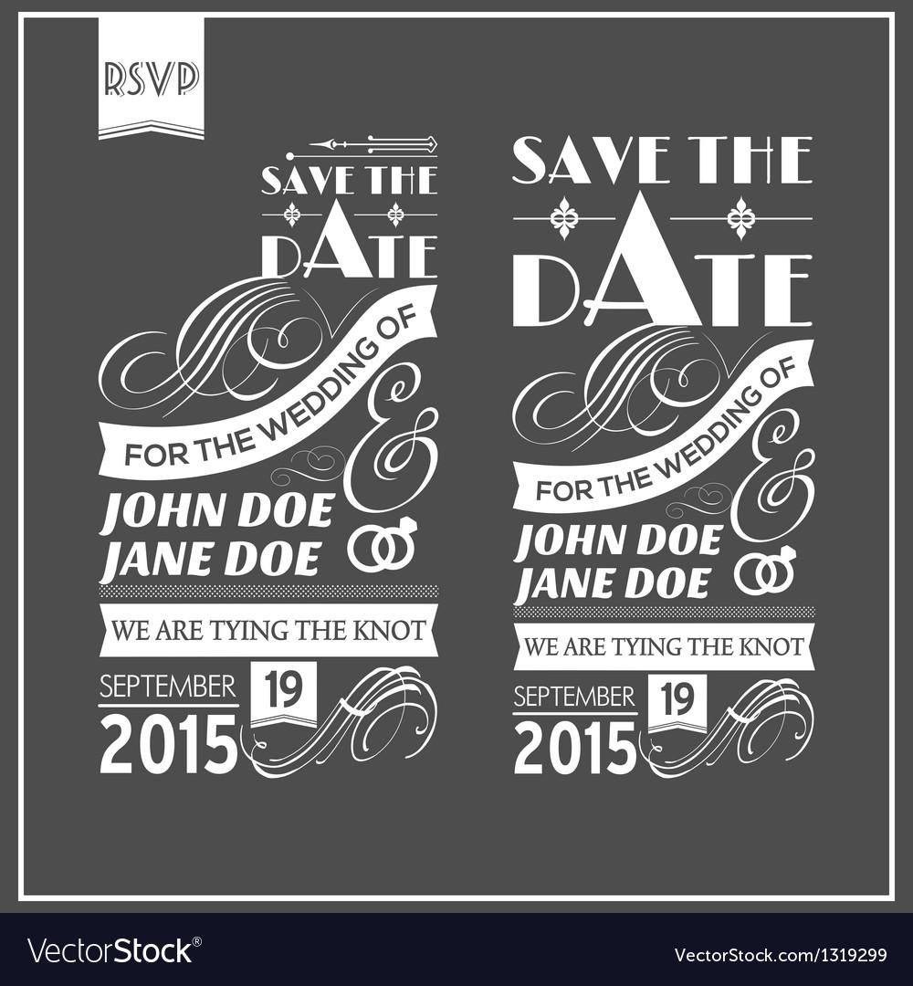 Wedding typography vector image