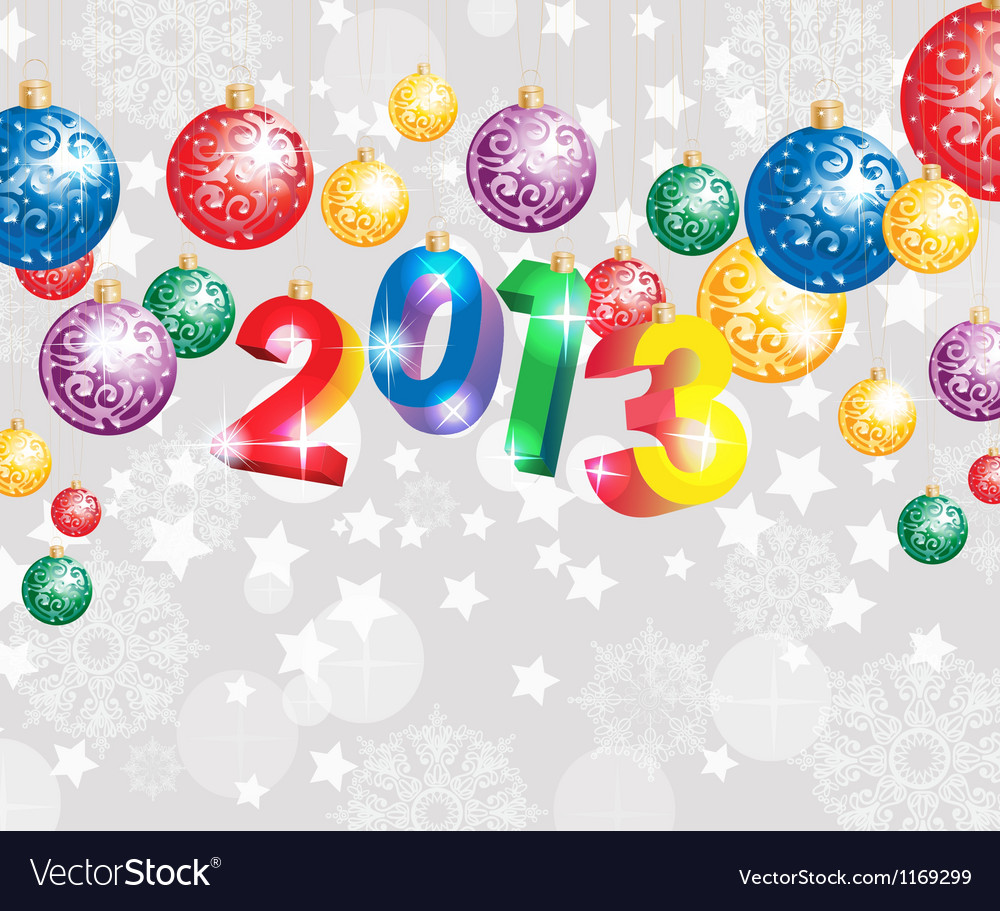 Christmas background 2013 vector image
