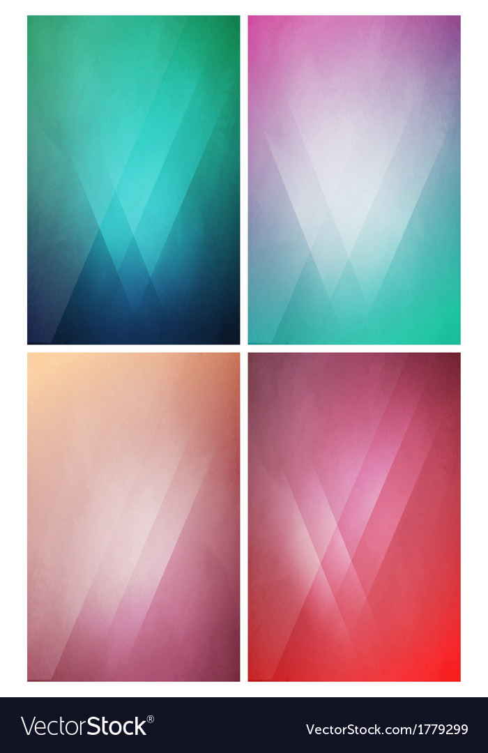 Eye-Catching flat background with Gradient Effect vector image