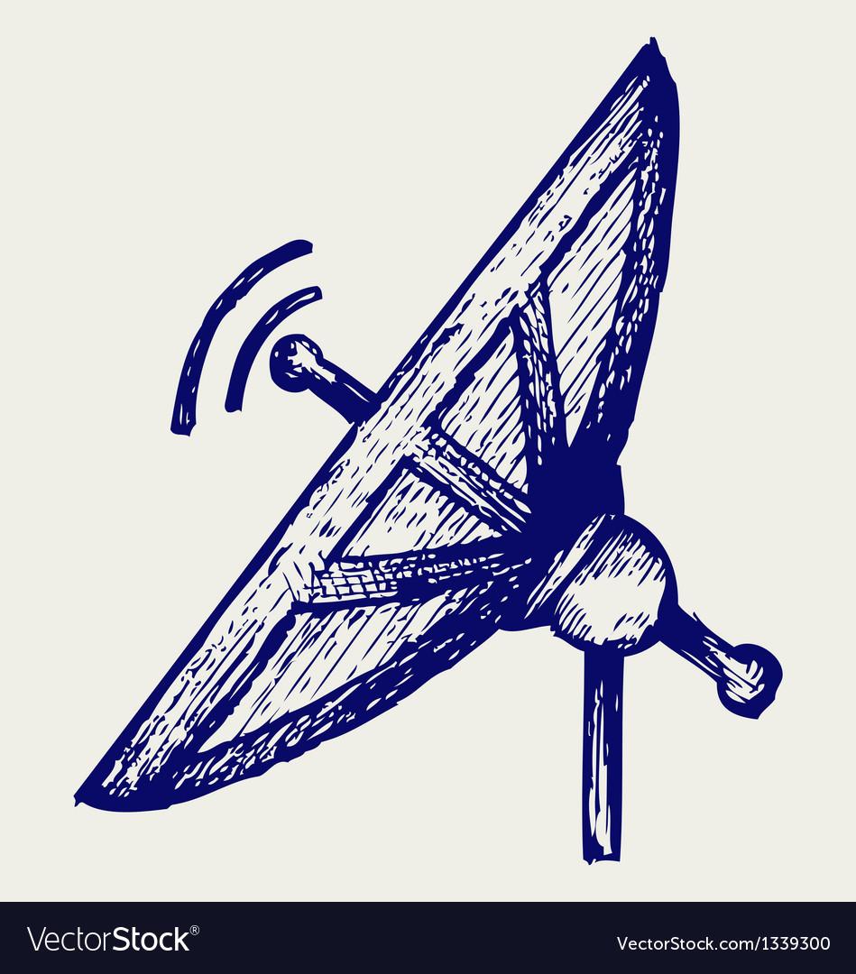 Radar vector image