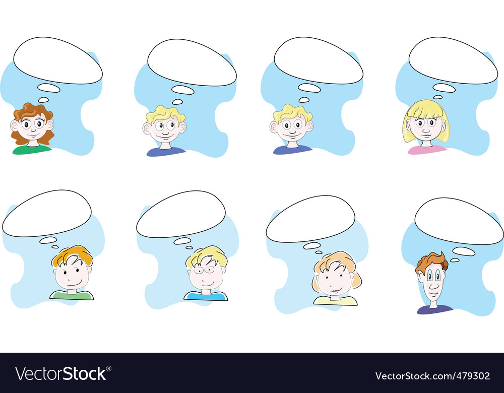 Thinking people Vector Image
