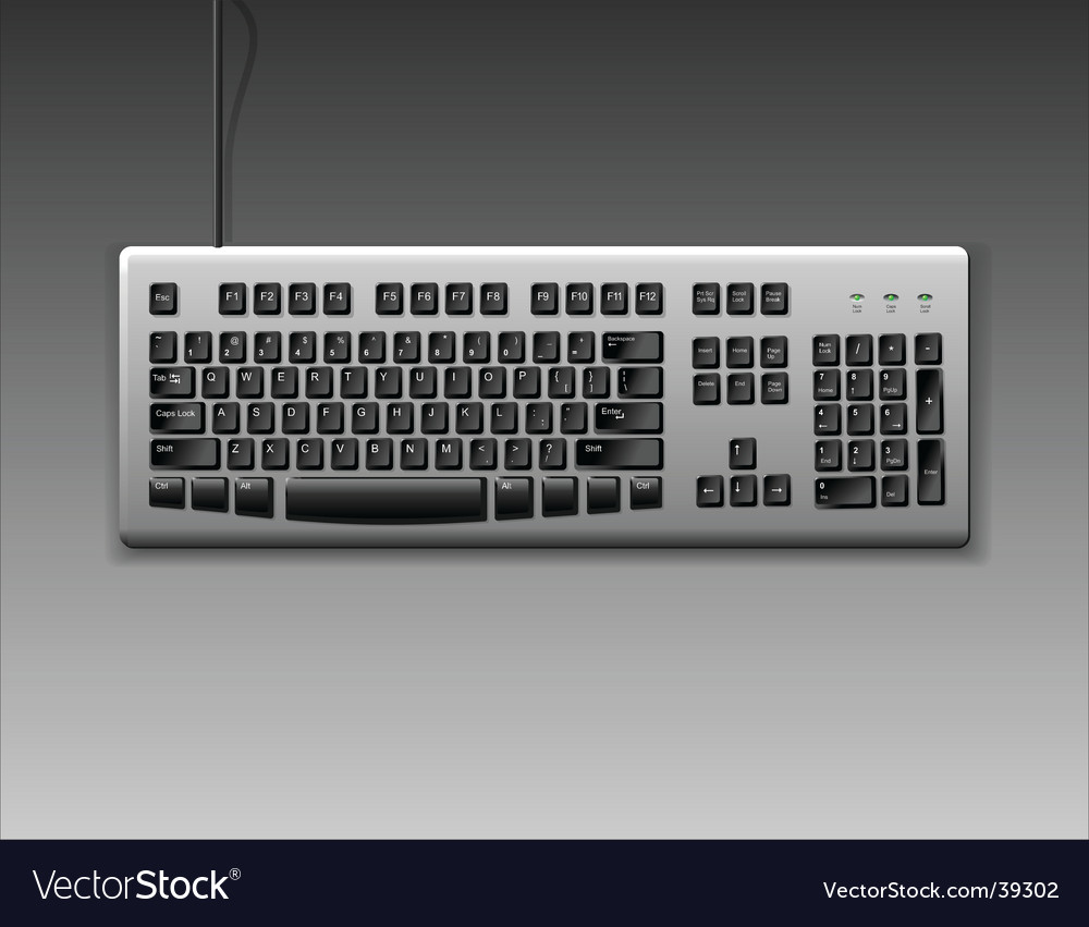 Classic keyboard vector image