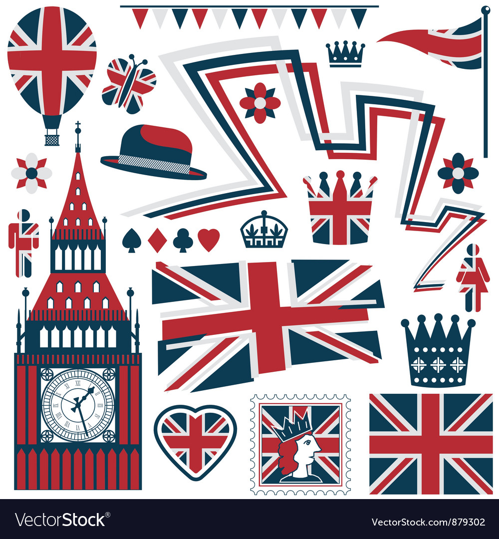 Uk design elements vector image