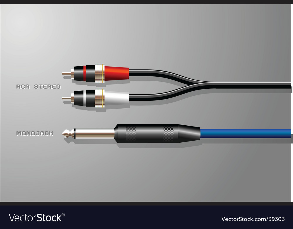 Cables and plugs Vector Image