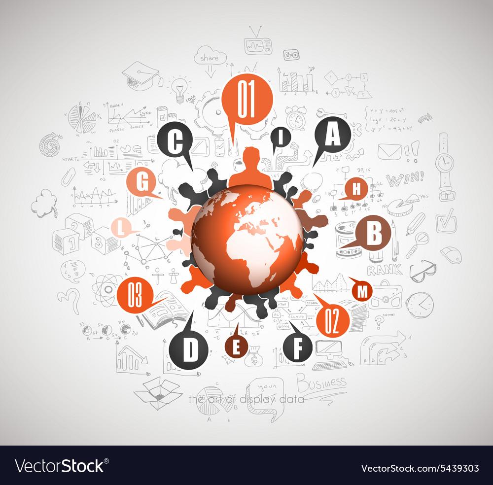 Flat Style Concept for Social Media Agenda vector image