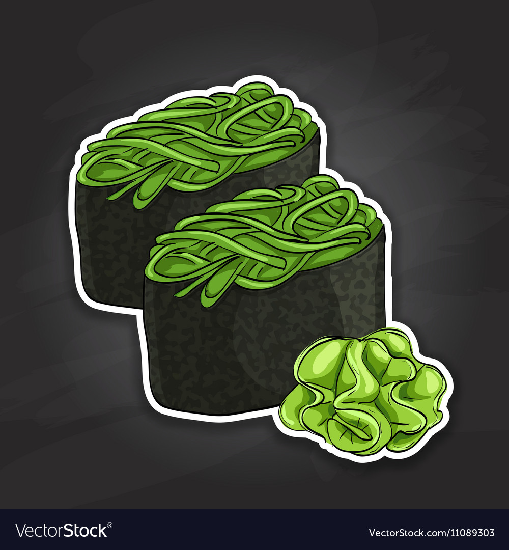 Gunkan Chuka Seaweed vector image