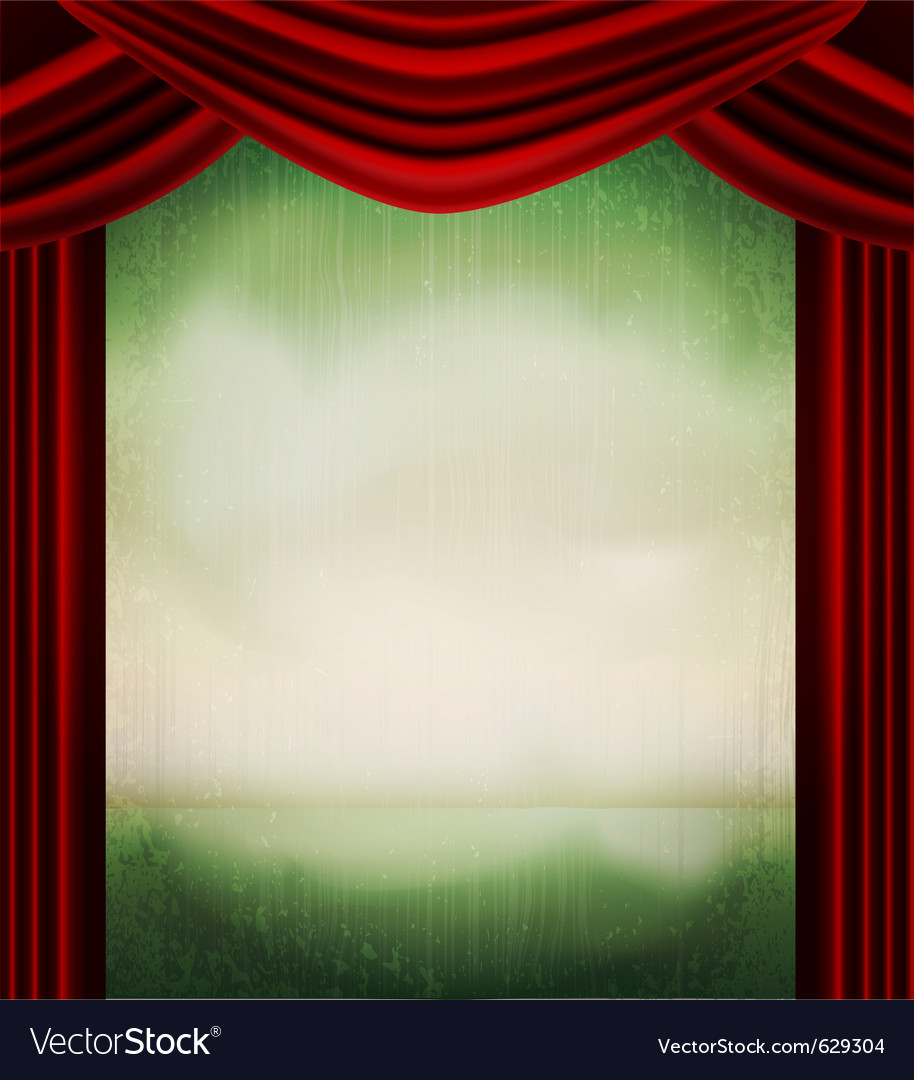 Vintage theater poster vector image