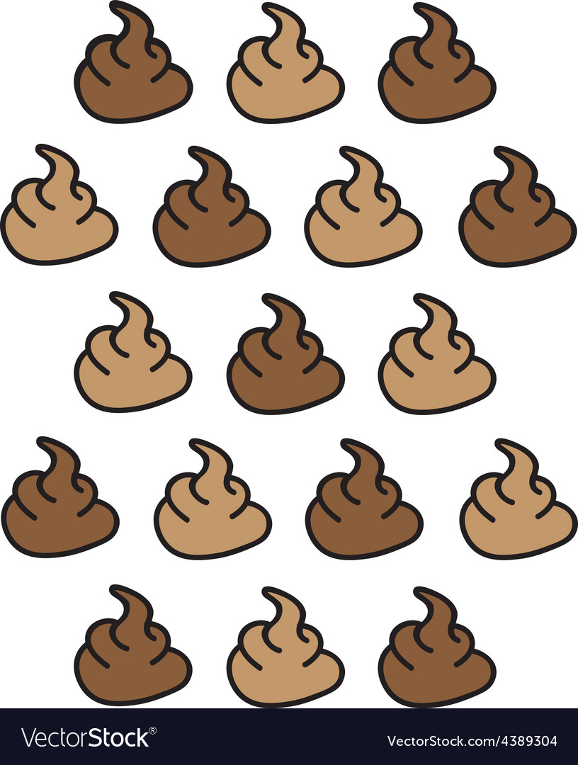 Curly turd pattern MW vector image