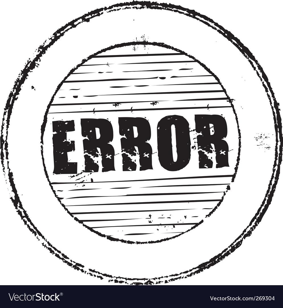 Error stamp vector image
