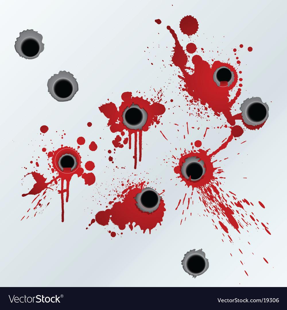 Gunshot blood background Vector Image